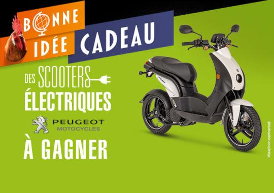 Tentez de gagner un scooter électrique Peugeot