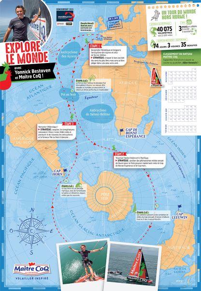 Carte pédagogique du Vendée Globe pour les enfants par Maître CoQ