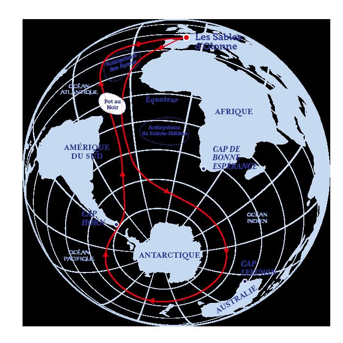 Périple du Vendée Globe