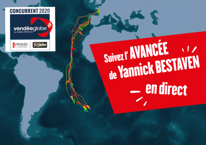 Cartographie du Vendée Globe - Maître CoQ - Yannick Bestaven