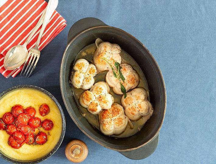Succombez à cette délicieuse recette de paupiettes de dinde à la sauge et à la polenta, vous allez vous régaler !