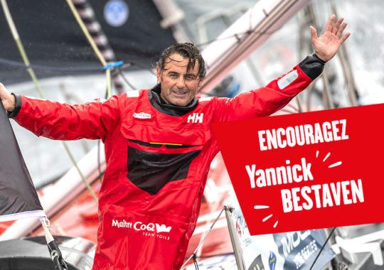 Encouragez Yannick Bestaven sur la Transat Jacques Vabre